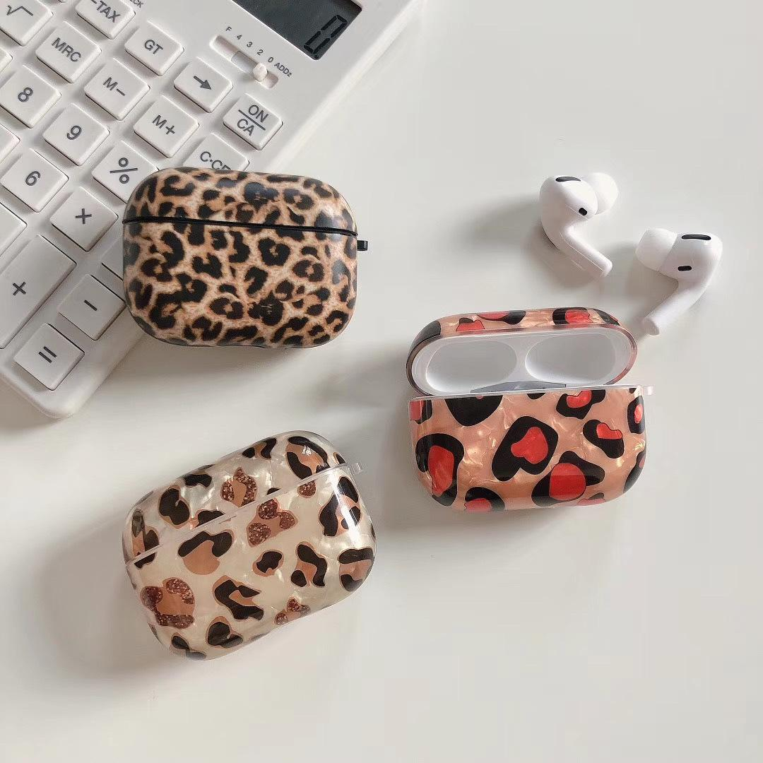 AirPods Fall Top-Qualität High Street Elements Leopard Printed New Tendenz Extravagant AirPods 02.01 / Pro Kopfhörer Shell 2-Color
