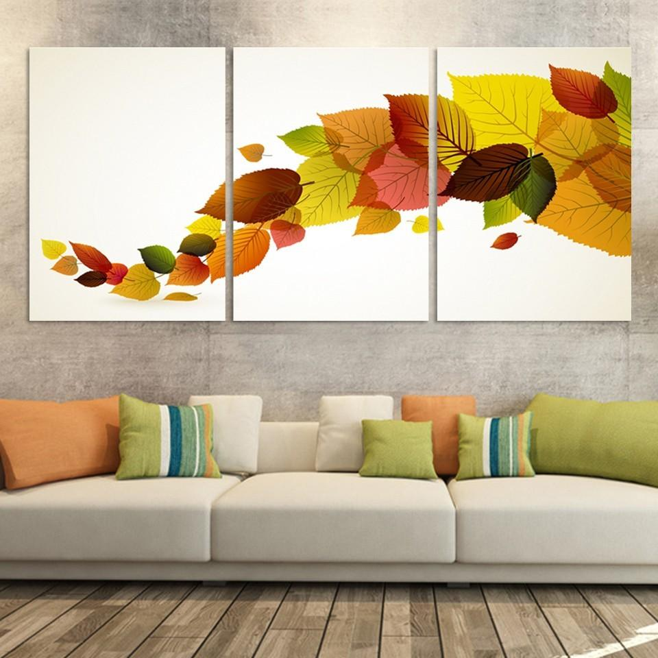 2020 A String Colorful Leaves Painting Still Life Home Living Room Wall Decoration Artwork Hd Print Picture Canvas Unframed From Cccofficialstore 9 77 Dhgate Com