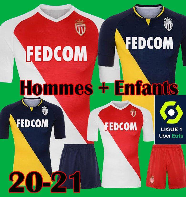 2019 2020 2021 Высочайшее качество Как Монако Бен Yedder Футбол Футбол Джовут Головин 20 21 Maillot de Fepe Flocage Хорхе Мужчины Детский футбол