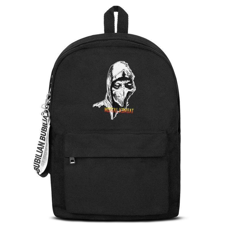 Classic Return Mortal Kombat Love Canvas Bookbag Basic Backpack Durable and convenient School Student Business Daypack logo hand Logo x