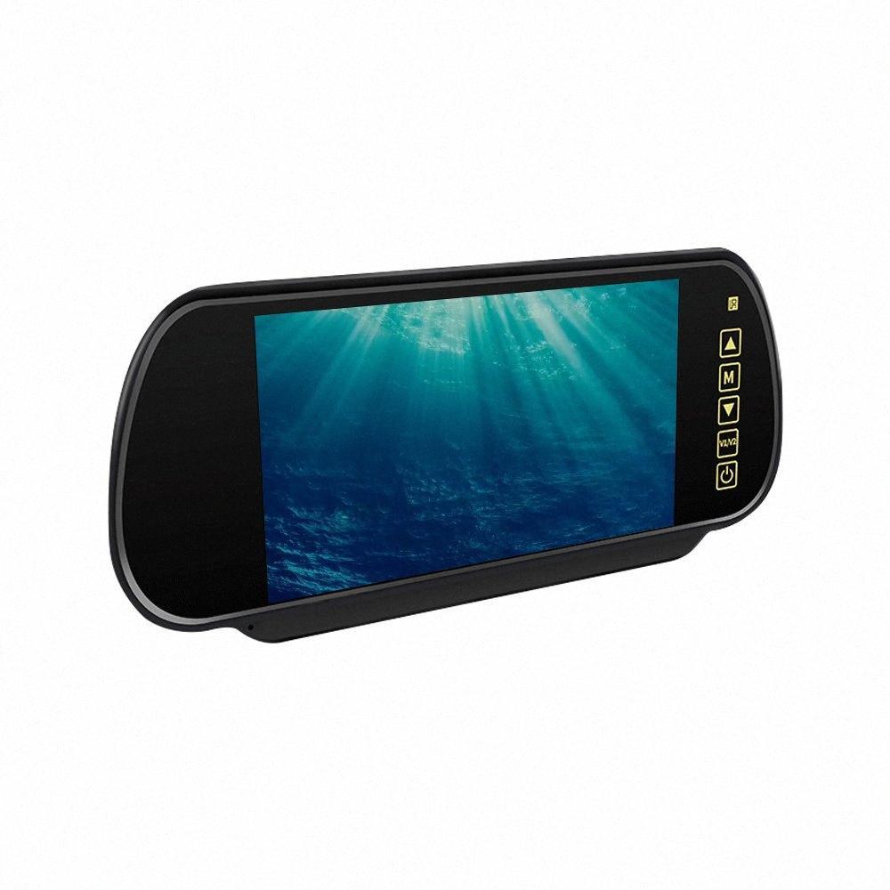 7 pollici schermo LCD monitor di retrovisione dell'automobile 12V del monitor dell'automobile per la visualizzazione telecamera posteriore a LED con la macchina fotografica di parcheggio di veicolo Monitoraggio Bh0G #