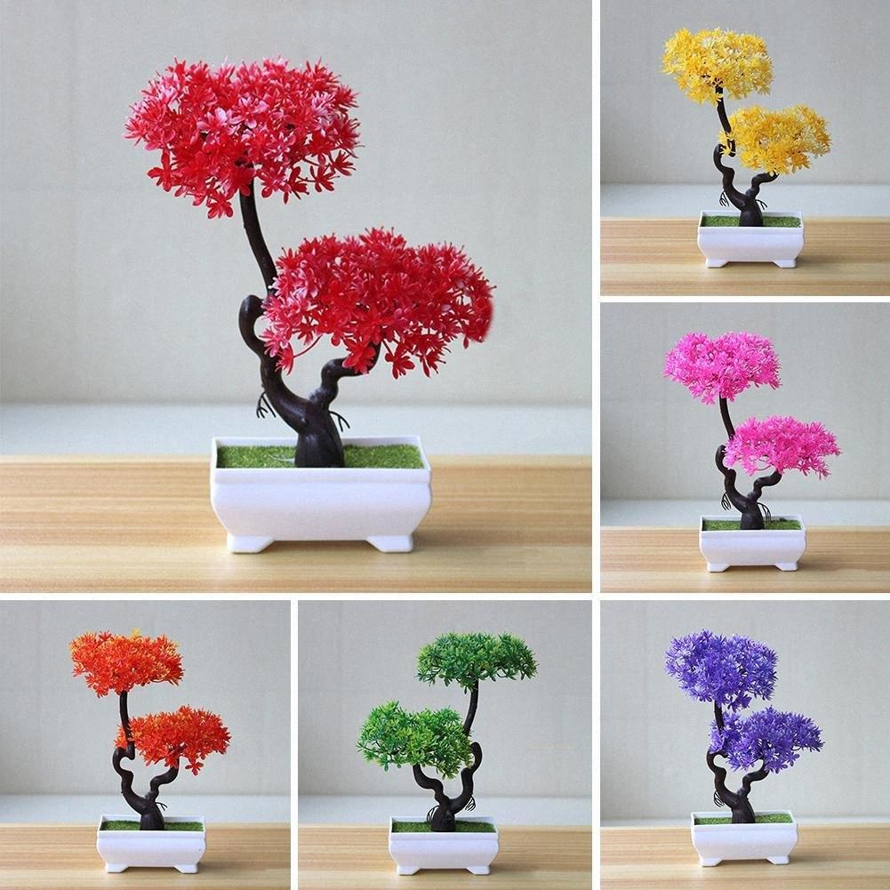 Künstliche Pflanzen Baum Bonsai-Fälschungs-Topf Ornament Gefälschte Grass künstlichen Blumen Home Hotel Garden Decor Geschenk bBXW #