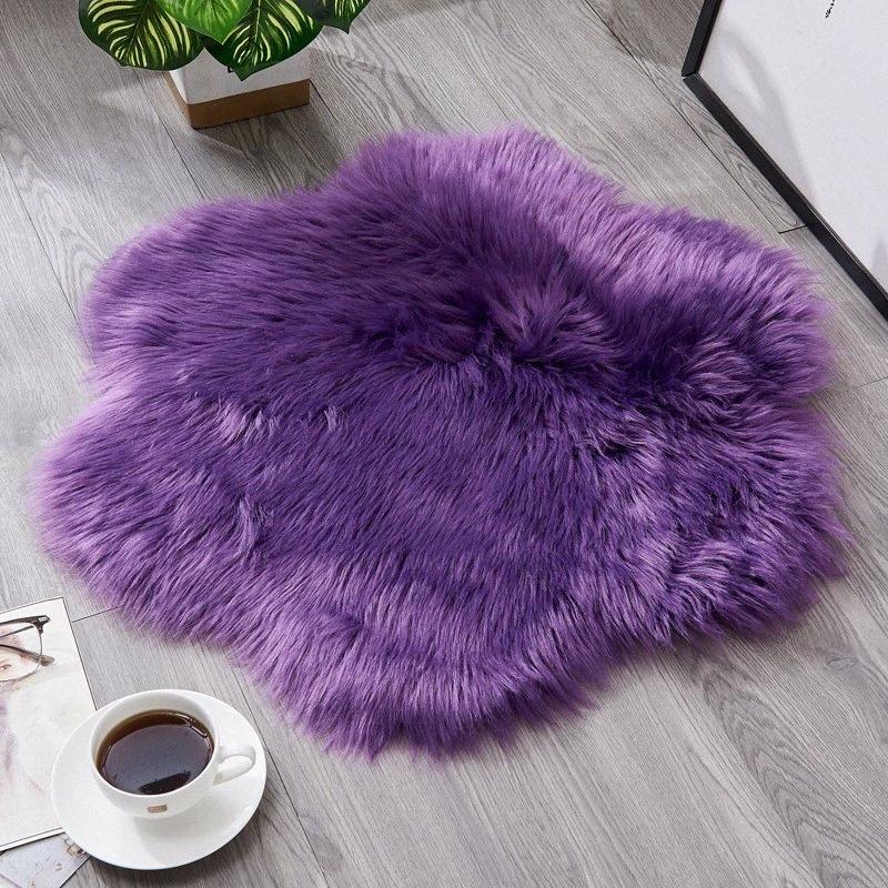 Piccoli tappeti salotto moderno Nordic Fluffy Shaggy Pelosi tappeto per le ragazze bianco presidenza molle Fiore Mats scendiletto casa Decorare jAl1 #