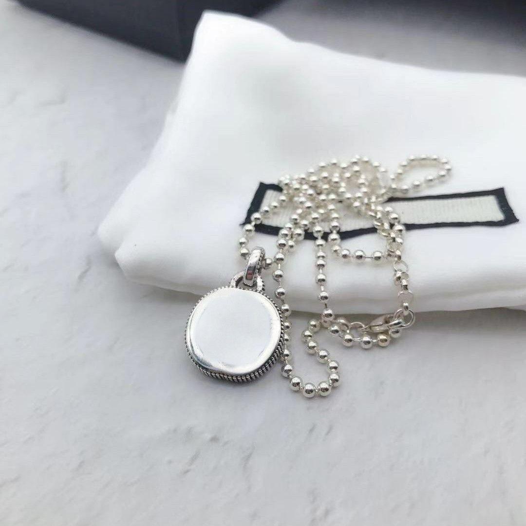 Yüksek Kalite 925 Ayar Gümüş Kolye Zincir Yeni Ürünler Kolye Unisex Çift Bildirimi Kolye Vahşi Moda Takı Kaynağı