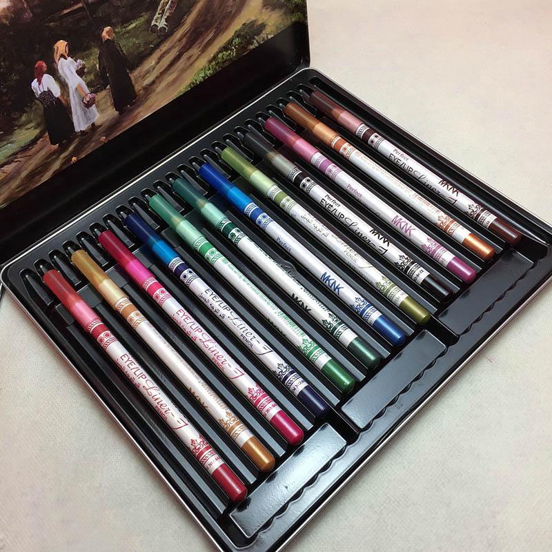 고해서 양질의 12 PC는 / 설정 혼합 색상까지 아이 라이너 펜슬 방수 아이 라이너 뷰티 펜 화장품 눈 메이크업 도구 확인
