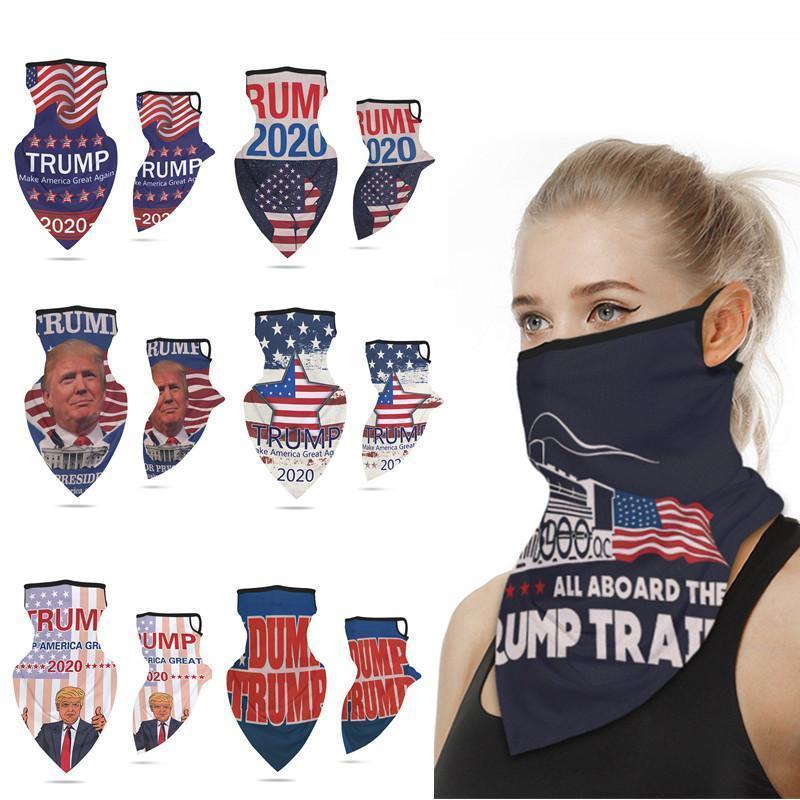 16 Designs 2020 Make America Again for President USA Donald Trump Election Outdoor Headbands Triangle Scarves Sports Cycling Wear FY6070