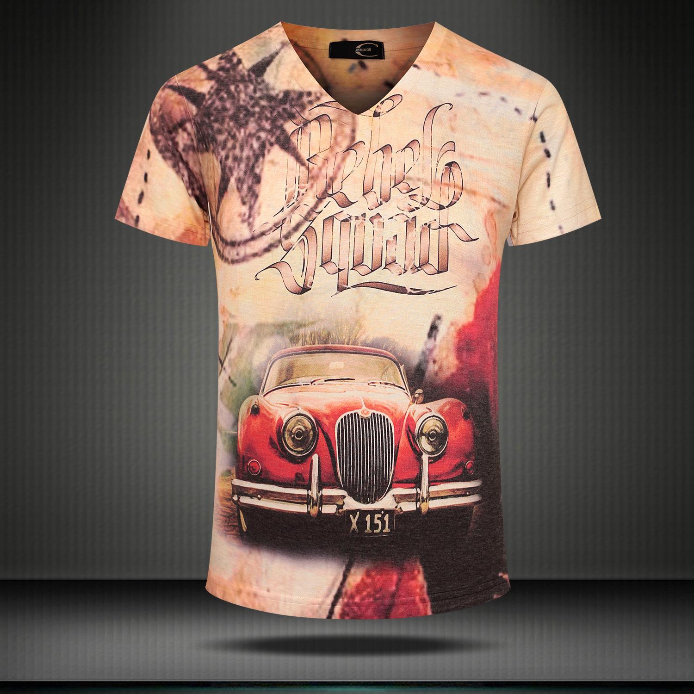 Il commercio estero maglietta europei e americani breve manicotto mezzo di modo della stella T-shirt degli uomini di marca degli uomini all'ingrosso 3D brevi s