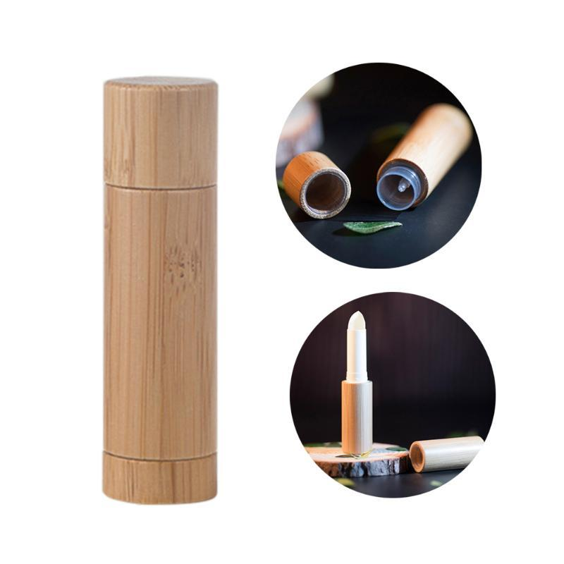 Écologique en bambou Rouge à lèvres Tube Biodégradable à lèvres Rouge à lèvres brut Container Bouteille vide Tube Container bricolage Bouteille rechargeable