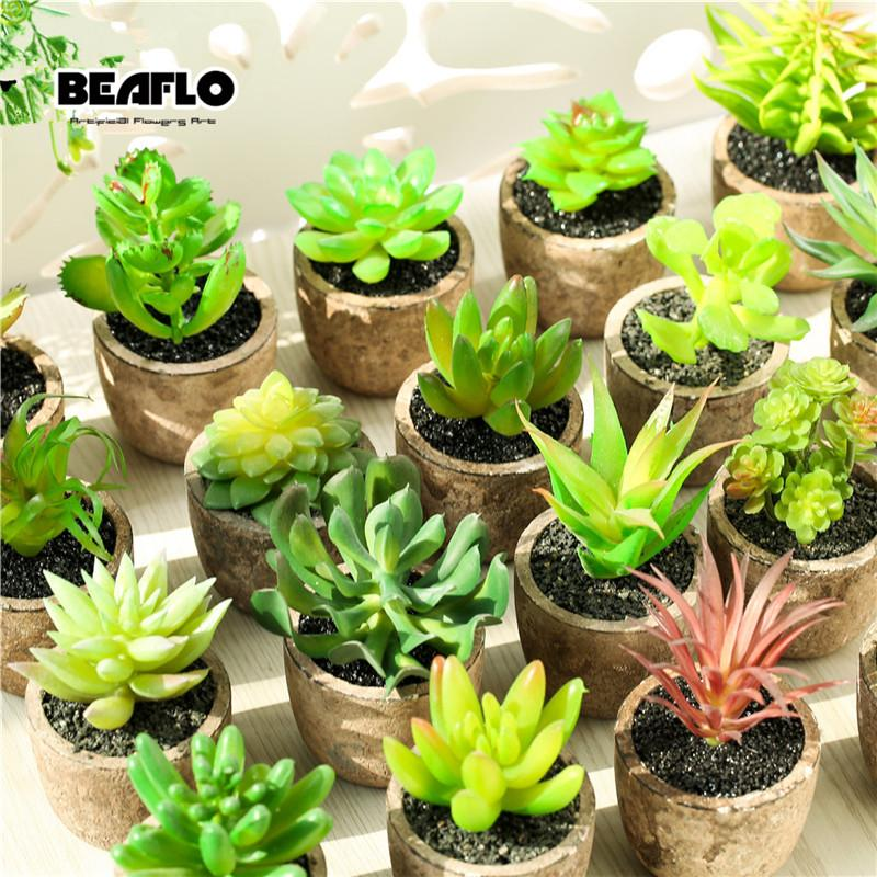 2020 Potted Succulents Cactus Ceramics Bonsai Cement Artificial Flower Fake Plants For Wedding Home Party Garden Decorative From Micandy 10 35 Dhgate Com