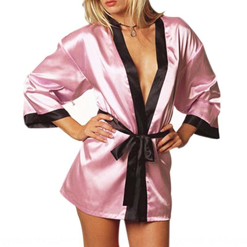 Enu8U definir camisola underwear underwear feminino gelo seda roupão tamanho grande sexy sexy Banho