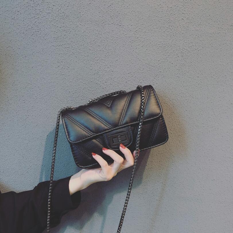 Bolsas nuevo estilo bolsos de cadena de bolsa de las mujeres bolsa de hombro de la manera del diseño simple de la Cruz Body Bags