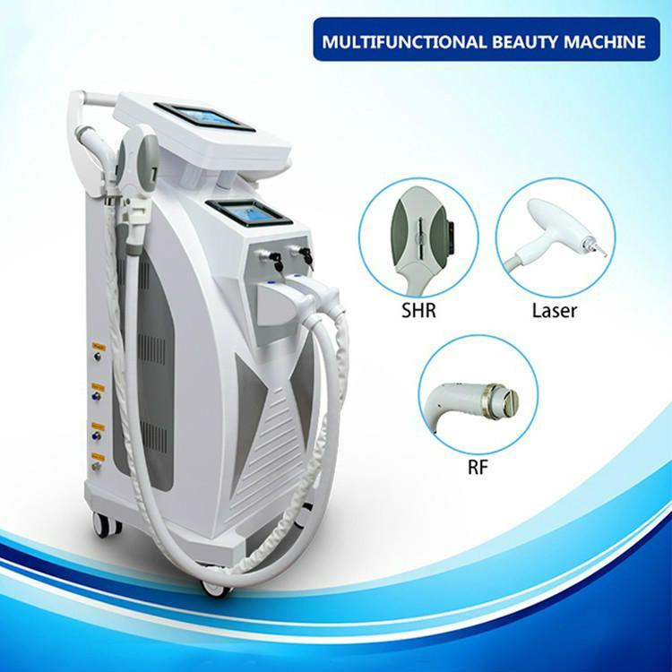 Novo Modelo 3 em 1 de rejuvenescimento da pele da E-luz Remoção IPL RF + Nd Yag Laser Cabelo Multifuncionais equipamento da remoção do pigmento Tattoo Removal