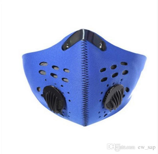 DHL Adult Anti-Pollution Activé Filtre à charbon Vélo demi-masques Masque Vélo Bouche Ski Courir Sports de plein air Masque de vélos