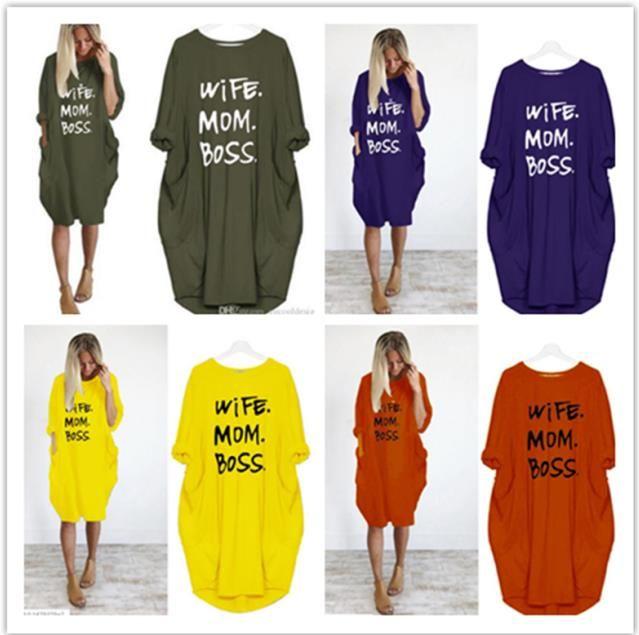 عارضة المرأة الصيف اللباس بالاضافة الى حجم الملابس أمي زوجه بوس سيدة فضفاض جيوب مصمم فساتين 4XL 5XL الملابس