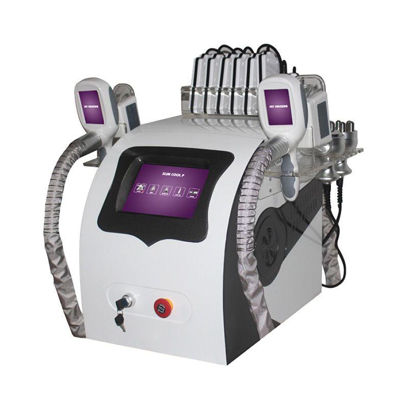 Super Fat Einfriertechnik Cellulite Reduktion Gewichtsverlust Cryolipolysis Körper schlank Cavitation RF Lipo Laser 5 in 1 Schönheit Maschine