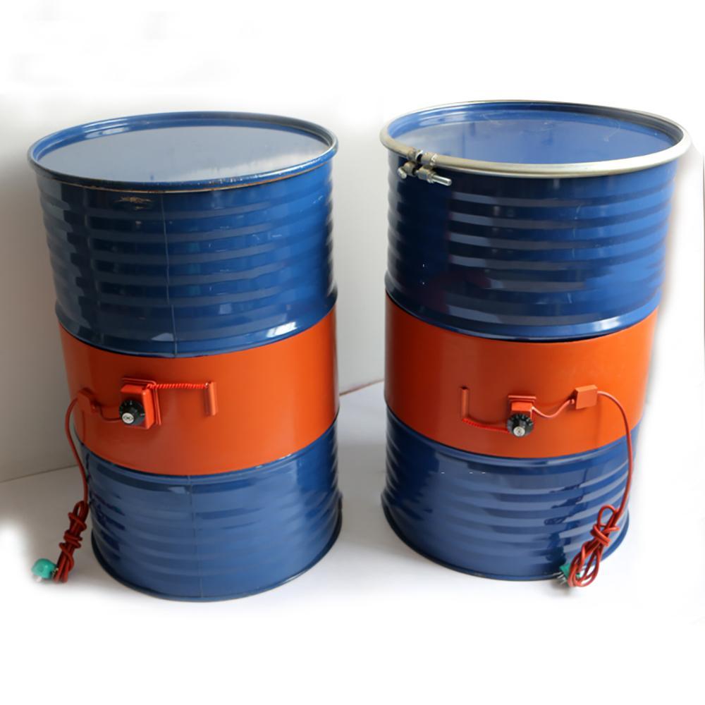 Silikon Band Drum Isıtıcı DIY Petrol Varil Silikon Isıtma Kemer Silikon Kauçuk Isıtıcı Petrol Gaz Tank Metal Varil Isıtıcı