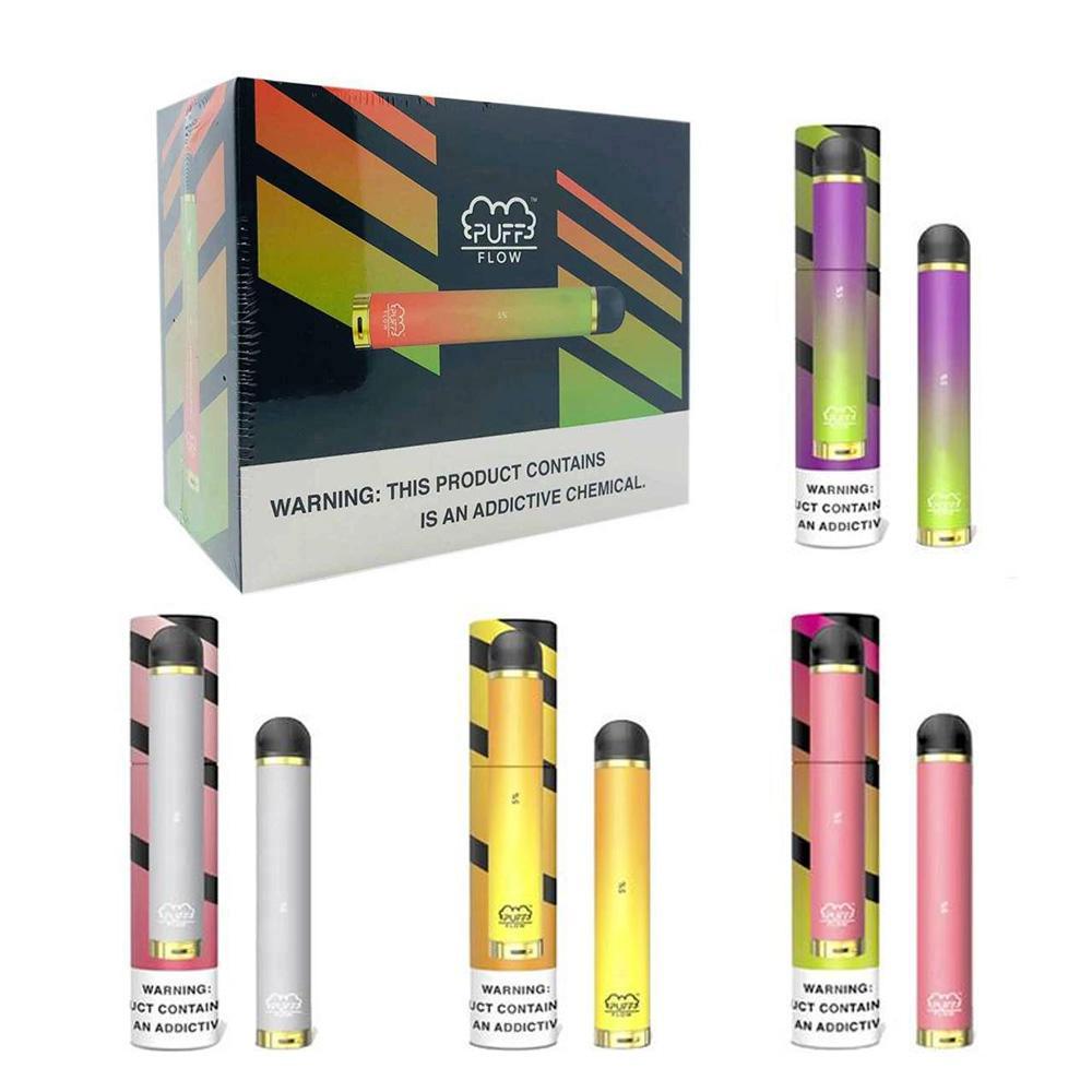 Горячие Предварительно заполненные 8 цветов Популярной Puff Flow Одноразового Vape Pen Pod устройство Стики 1000+ пуфы Испаритель Pen Puff Flow VS Puff Bar Xtra
