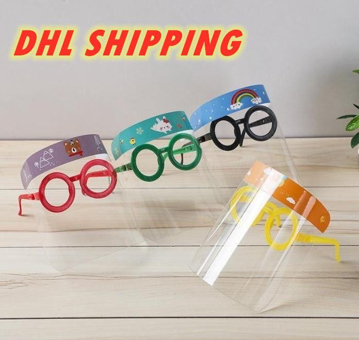 Envío de DHL Máscaras de diseño historieta de los niños careta con los vidrios anti-niebla Máscara impedir la plena protección partido de la máscara regalos Kid FY8097