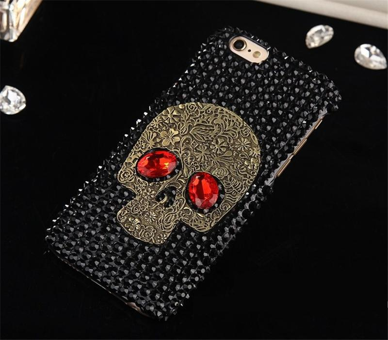 2020 Skull Mobile phone case with diamond Cases For iPhone 11 Pro MAX XS XR 8 7 6 Plus Matte Anti-fall Shockproof