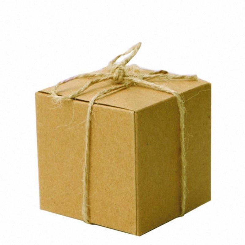 50 Papier Kraft PC Place Bonbons Boîtes de soirée de mariage cadeau Faveur des chaînes de caractères US V8l9 #