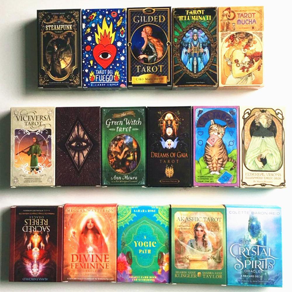 Femmes filles Cartes Jeu English Tarot Cartes Oracles Deck Mystérieuse Divination Deck Deck Parent-enfant Interaction Board jeu
