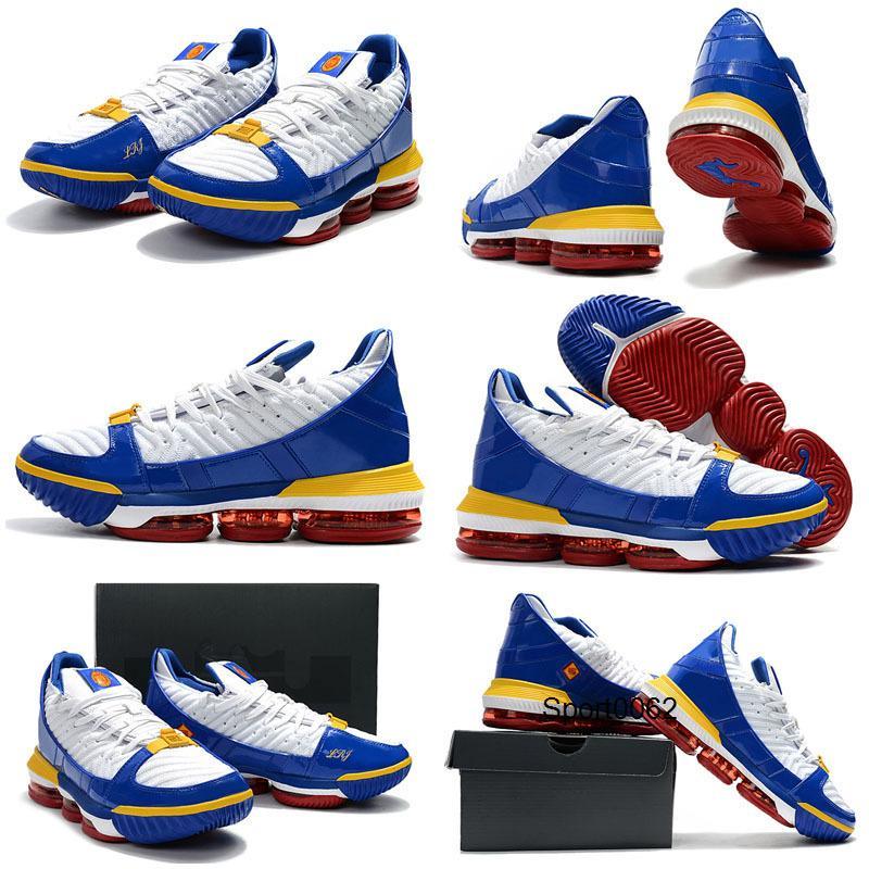 New Style lebron 16 SB SuperBron Homens Crianças tênis de basquete instrutor Boa Qaulitys Branco Varsity Vermelho Azul Royal James 16 Homens Esportes Atléticos
