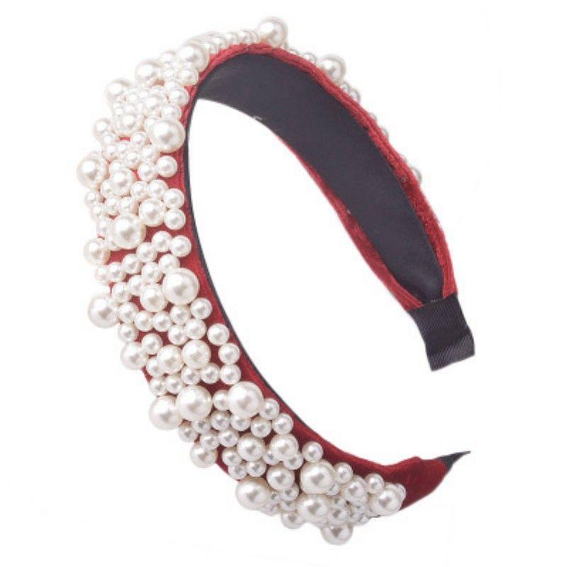 Nouveau luxe pleine Perle Bandeau Femmes Décore Ladies hairband Bezel Chapeaux Filles Accessoires cheveux Couvre-chef