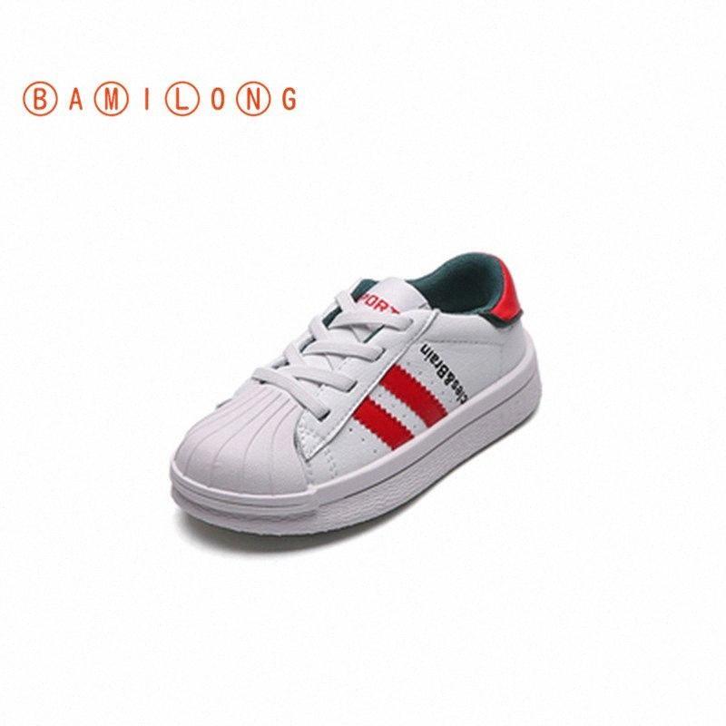 Qualità ragazzi delle scarpe da tennis del bambino delle ragazze dei neonati dei pattini 2020 bambini di autunno Casual Sneakers inferiore molle Scarpe da corsa K61 gTCn #