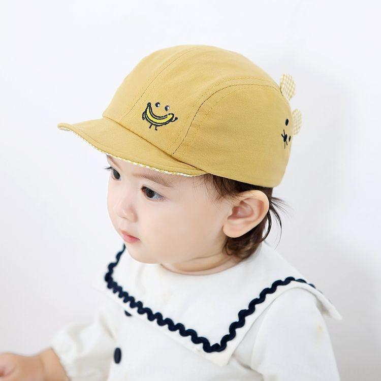 2020 Spring Spire cap capNew Korean style baby hat embroidered cartoon baby sun hat children's peaked cap