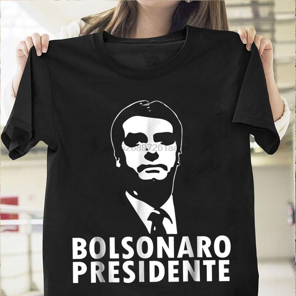 Bolsonaro Presidente Shirt Jair Bolsonaro 2019 Hommes Noir Coton T-shirt M-3XL marque chemises de jeans Imprimer T-shirt cool xxxtentacion
