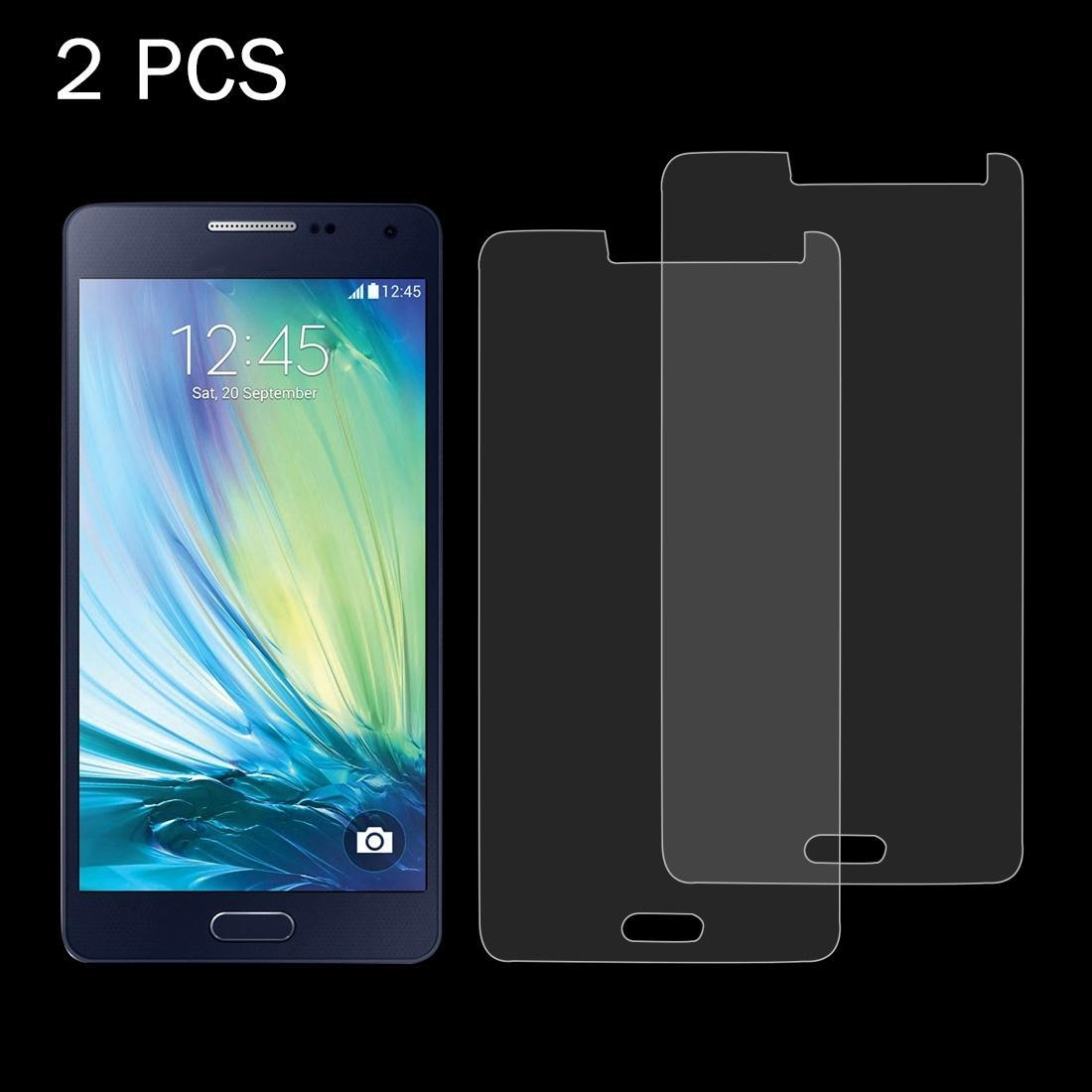 2 PCS para Galaxy A5 0.26mm 9H Dureza superficial 2.5D a prueba de explosiones de la pantalla de cristal templado de Cine