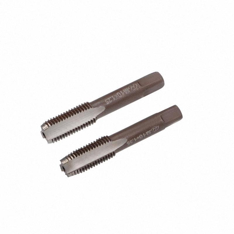 uxcell Metric Hand Tap M10 Gewinde 1,25 Pitch 3 Gerade Flöten H2 legiertem Werkzeugstahl 1 Paar UECU #