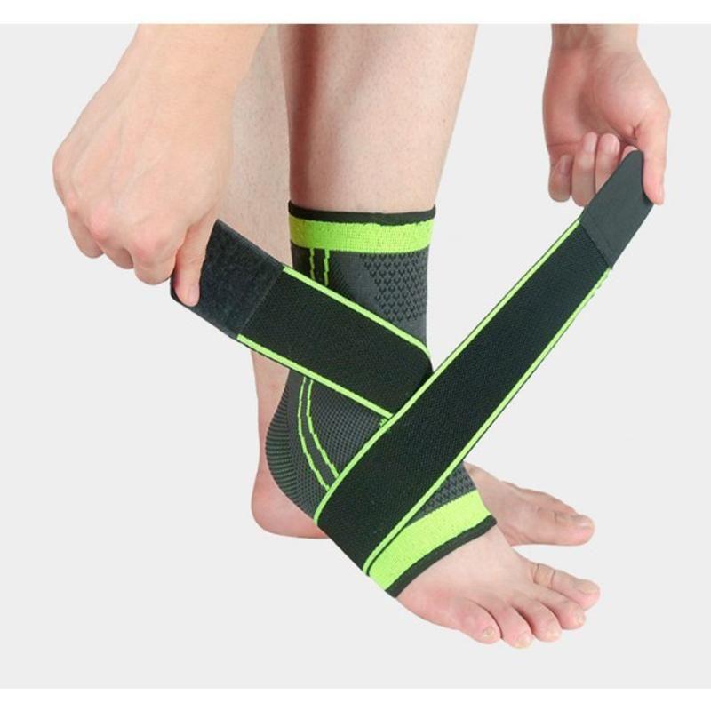 1pc 3D Pressurized Chevillère Basketball Volleyball Gym Sports Badminton chevillère Protecteur avec sangle élastique de ceinture