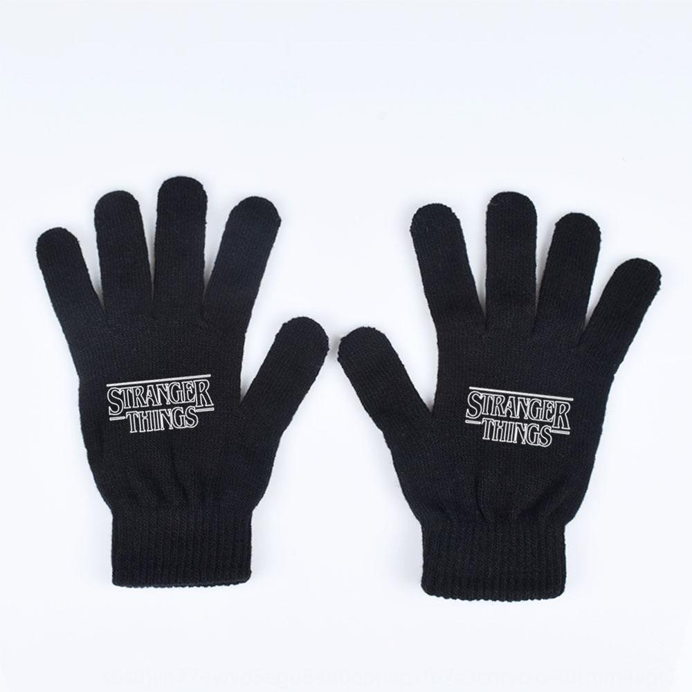 Strange story Stranger Things surrounding full finger thickened knitted warm for men and women in winter Warm Gloves and gloves