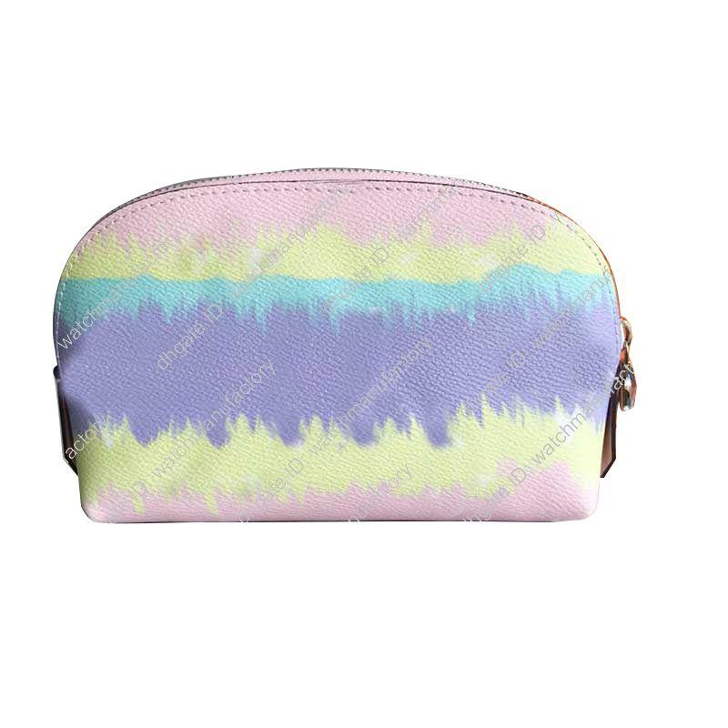 11 colors Fashion designer makeup bag cosmetic bags case pouch toiletry bag top quality Watercolor Batik brown letter check canvas handbag