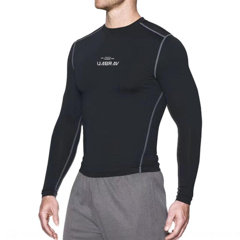 VPUMg Lazer roupas de outono de manga comprida masculina e inverno New fleece basquete em execução collants Fitness formação Basketball collants MdZ4j quic