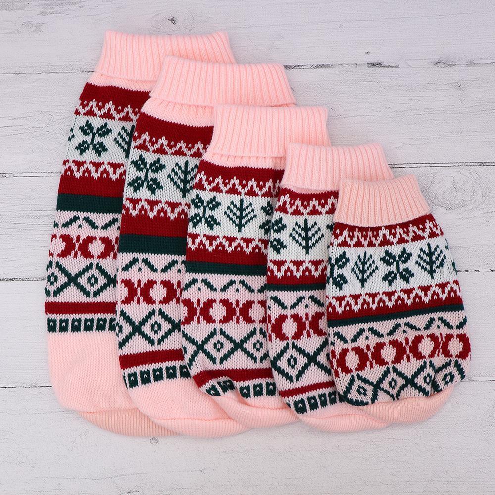 Copo de nieve del gato suéter tejido de punto ropa para mascotas Escudo Gatos gatito gato invierno Perros Ropa equipo de la Navidad para mascotas pequeñas S M L XL