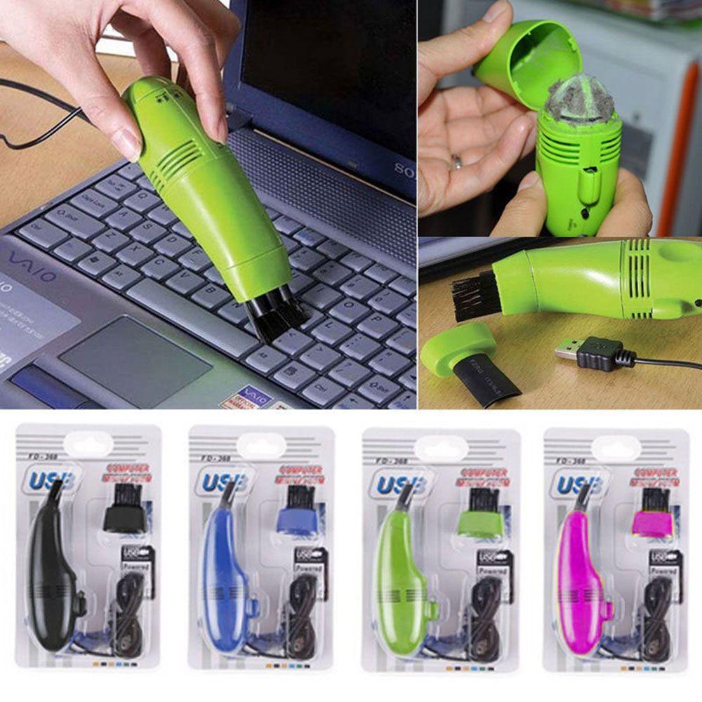 Новая Мода Мини USB Keyboard Cleaner Компьютер Вакуумный ПК Ноутбук Кисть Уборка Пыльницы Комплект DHL Бесплатный груз