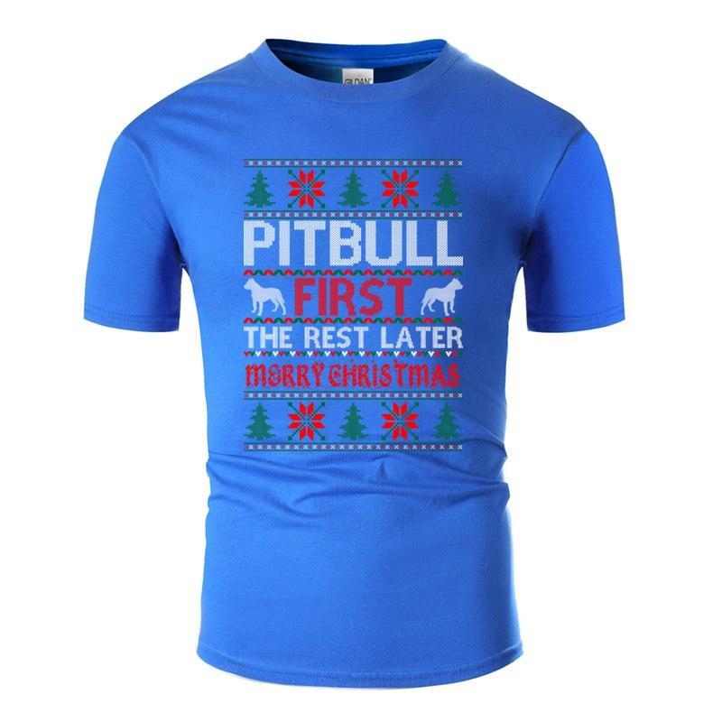 Забавный Pitbull Первый Rest Позже Рождество Гадкий свитер Tshirt Юмор Классные Army Green Женский Комиксы для взрослых Футболки Повседневная