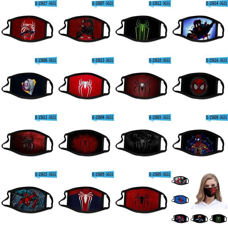 Человек-паук Into Паук Стих 3D печать Дизайнер маска для лица Маски Хлопок Многоразовый Face Out Door Спорт езда Маски nGmYp loveshop01