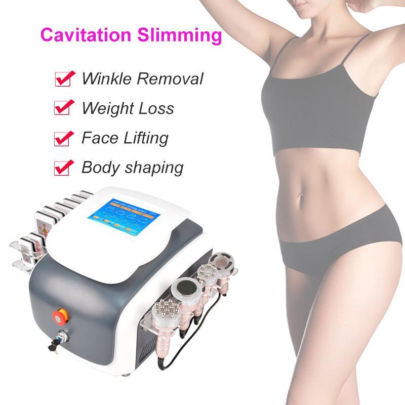 6 in 1 nuova macchina per cavitazione sottovuoto di liposuzione ultrasonica macchina della cavitazione della macchina della cavitazione del corpo dimagrante del corpo che dimagrisce l'attrezzatura di bellezza