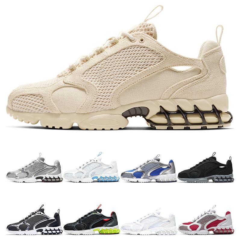 Nike Air Zoom Spiridon Cage 2 Stussy الكلاسيكية الثلاثي أبيض أسود VARSITY سترات الرجال أحذية النسائية Huarache Huaraches الرياضة رياضة الجري أحذية حجم يورو 36-45