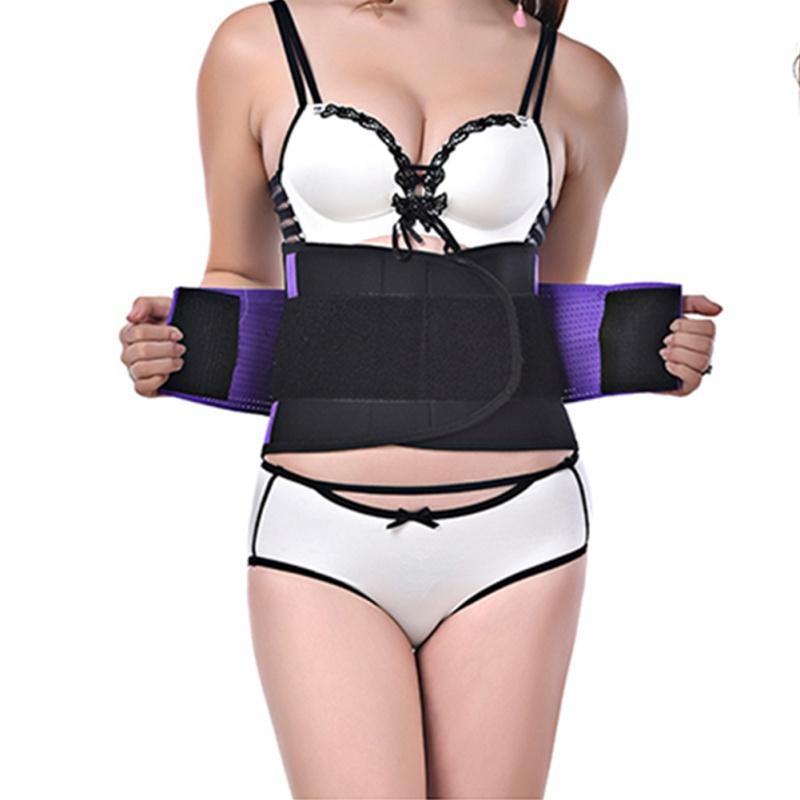 Women Sports Waist Support Adjustable Waist Support Brace Fitness Gym Lumbar Back Neoprene Supporter Protection