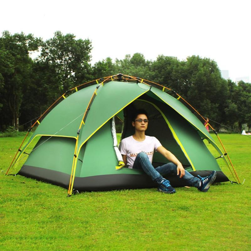 DESERTCAMEL CS070-3 Three-used Automatic Tent Portable Rainproof Tent Double Layers Outdoor Camping Hiking For 2 Persons