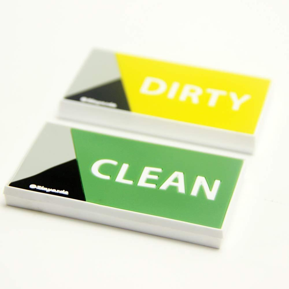 Dishwasher Magnet Dishwasher Clean Dirty Magnet Sign,Rubber Coating Prevents Scratches