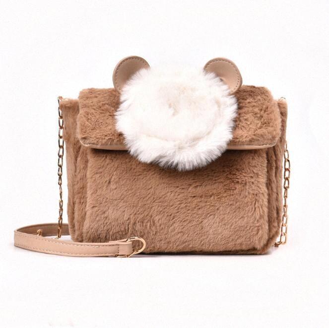 Сумки высокого качества Женщины Плюшевые сцепления осень и зима Тип сумка плеча милая леди сумка моды сумочку Bolsas N 4670 сумки Wholesa XE6s #