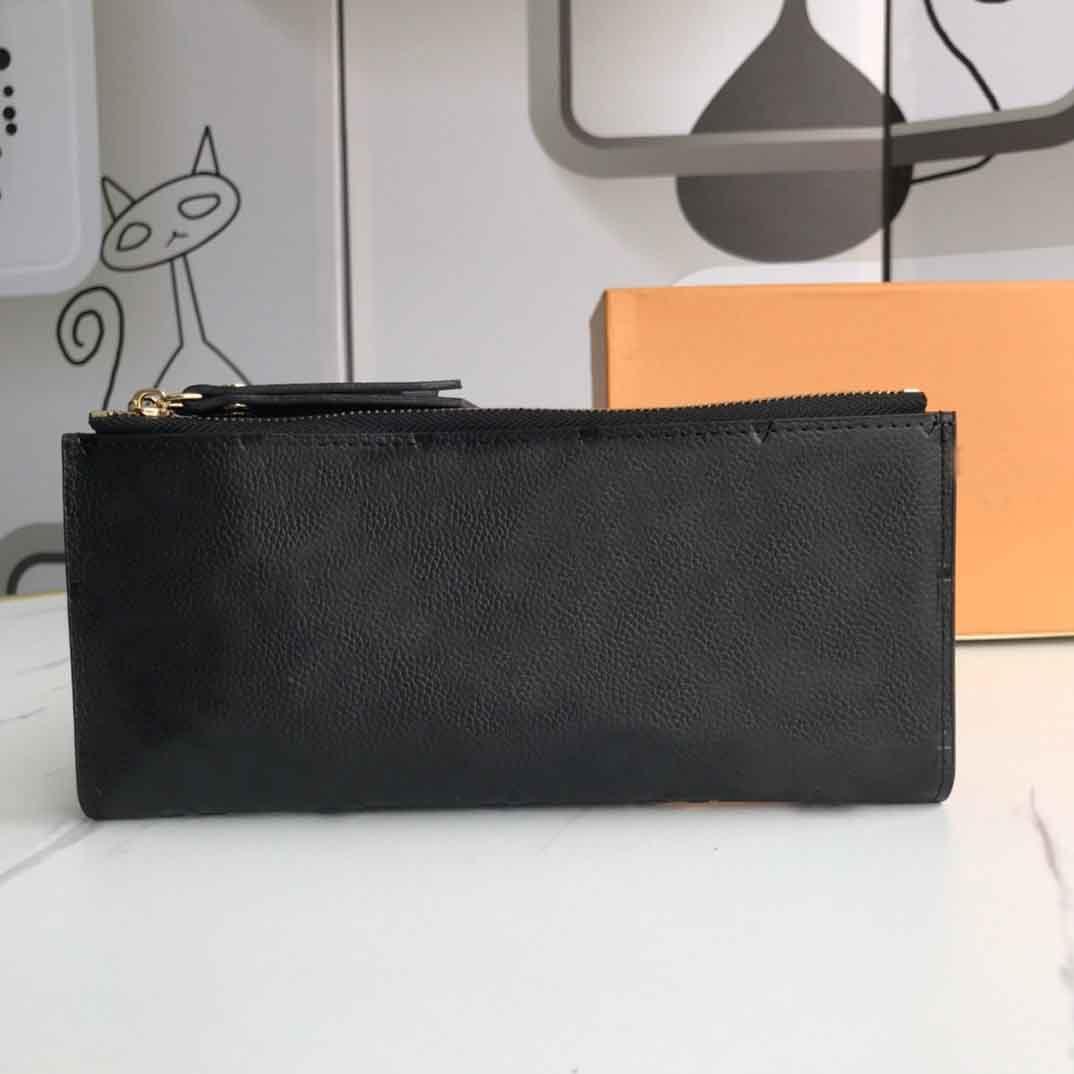 Portefeuille Clemence Brieftasche Hohe Qualität Womens ikonische Mode Lange Brieftasche Münze Geldbörse Kartenhalter braun Wasserdichte Canvas Tasche 61269