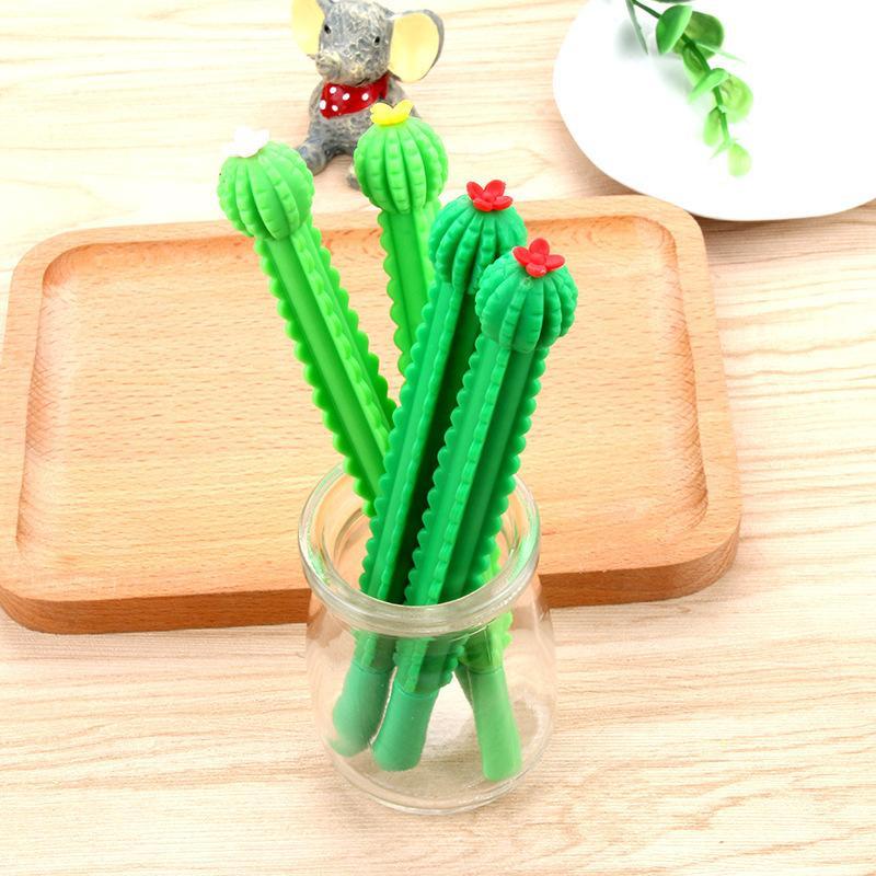 24 piezas de Cactus neutral pluma Corea del pequeño fresco y creativo encantador Personalidad Pluma del agua de Estudiantes Uso pequeño fresco Y200709