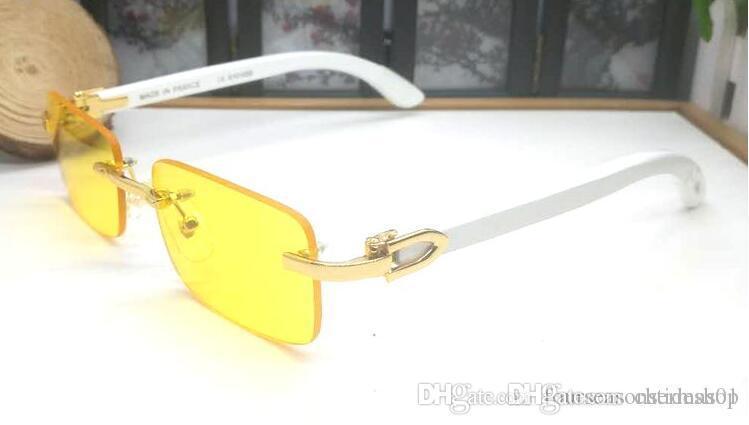 Occhiali da sole lenti degli occhiali da sole di legno di sport di bufalo vetro corno 2019 fresco nuovo progettista di marca per uomo lenti trasparenti con gli occhiali caso a buon mercato