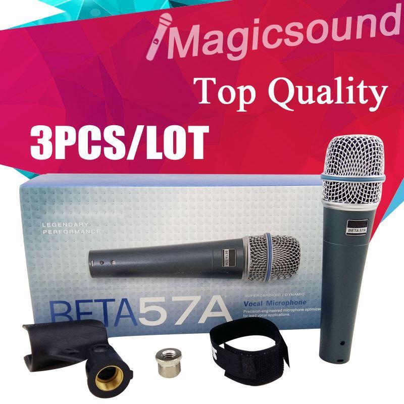 Upgrade-Version BETA 57A !! 3PCS Top-Qualität BETA 57 Beta57 Vocal Handmikrofon Niere dynamische verdrahtete Microfone Mic